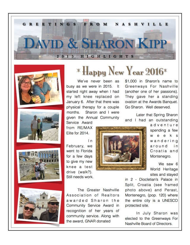 2015 Holiday Letter